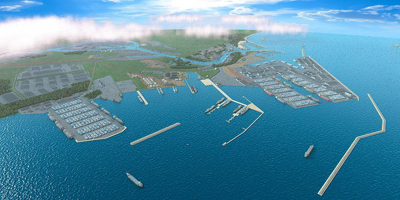 Wizualizacja jednej z koncepcji Portu Zewnętrznego
