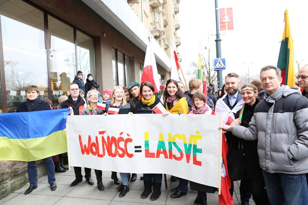 Wolność = Laisvė. Marsz Niepodległości w Wilnie. Fot. Antoni Radczenko