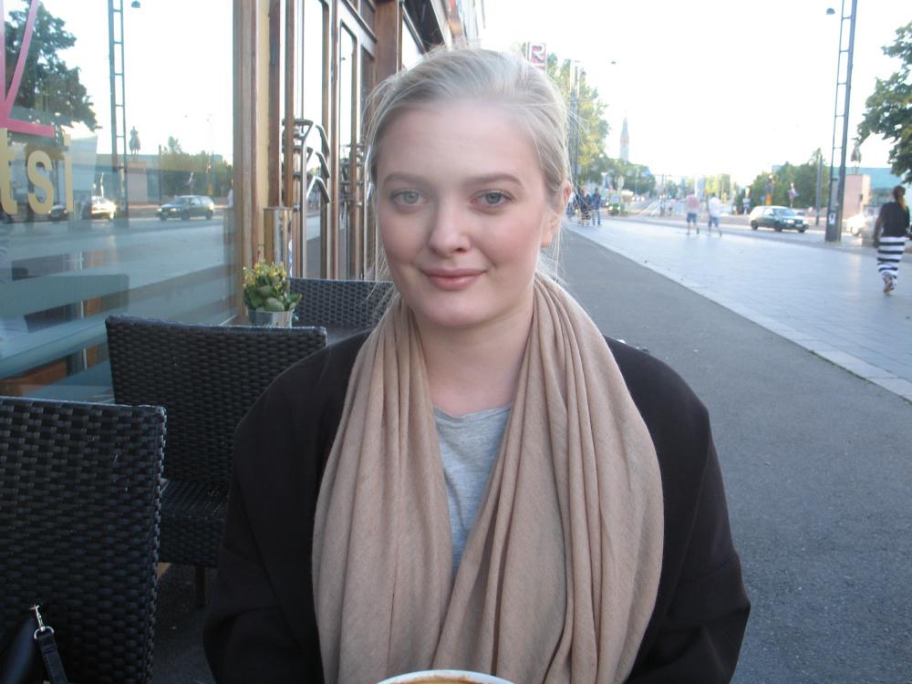 Anna Abrahamsson, młoda działaczka Szwedzkiej Partii Ludowej. Zdj. Tomasz Otocki