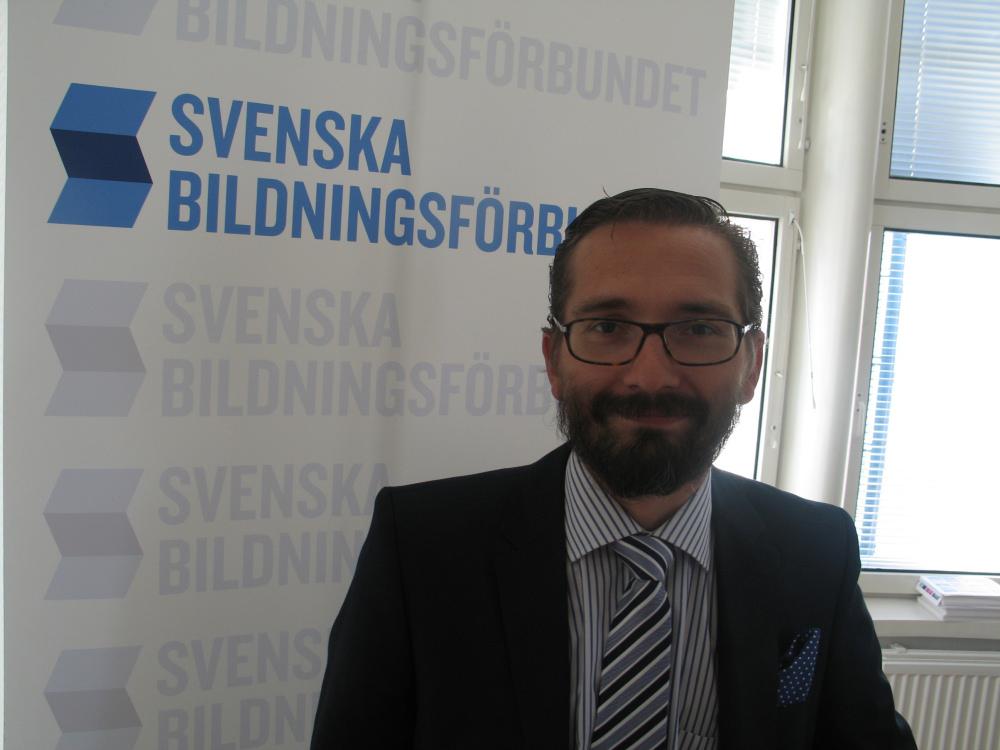 Fredrik Guseff, dyrektor think-tanku Szwedofinów. Zdj. Tomasz Otocki