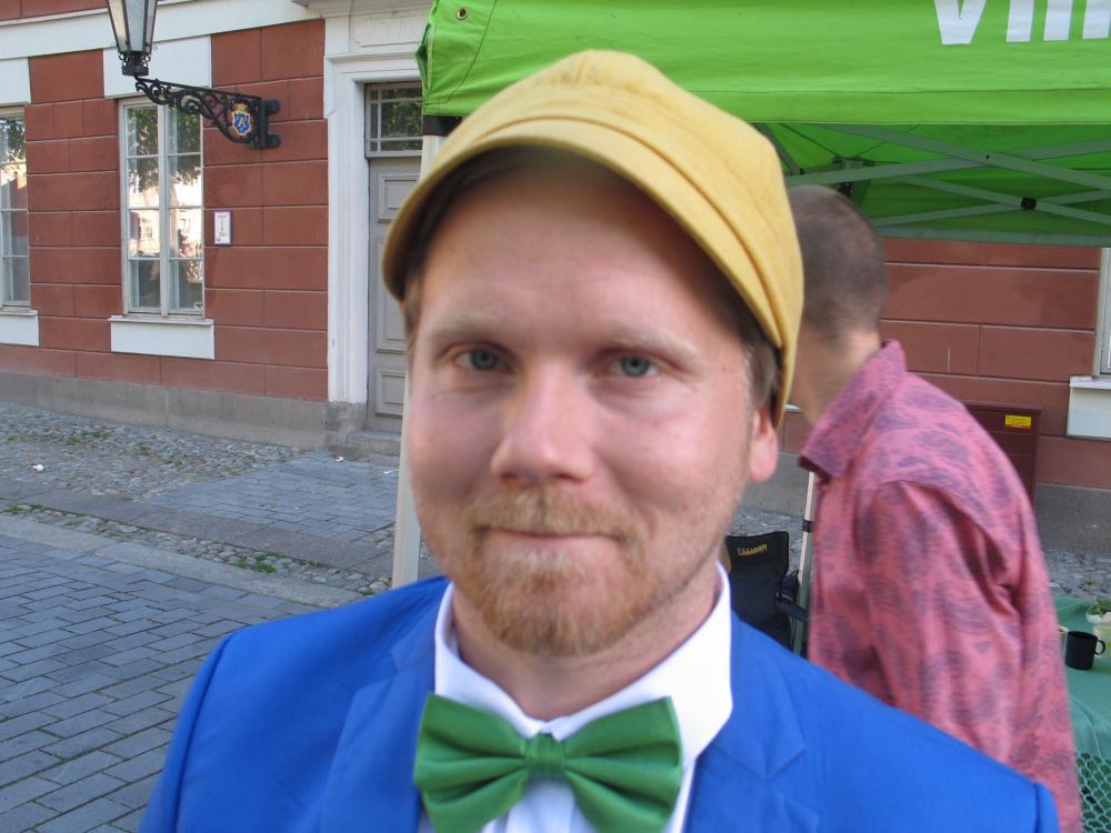 Jukka Vornanen, działacz partii zielonych, w całości popiera równouprawnienie Szwedofinów. Zdj. Tomasz Otocki