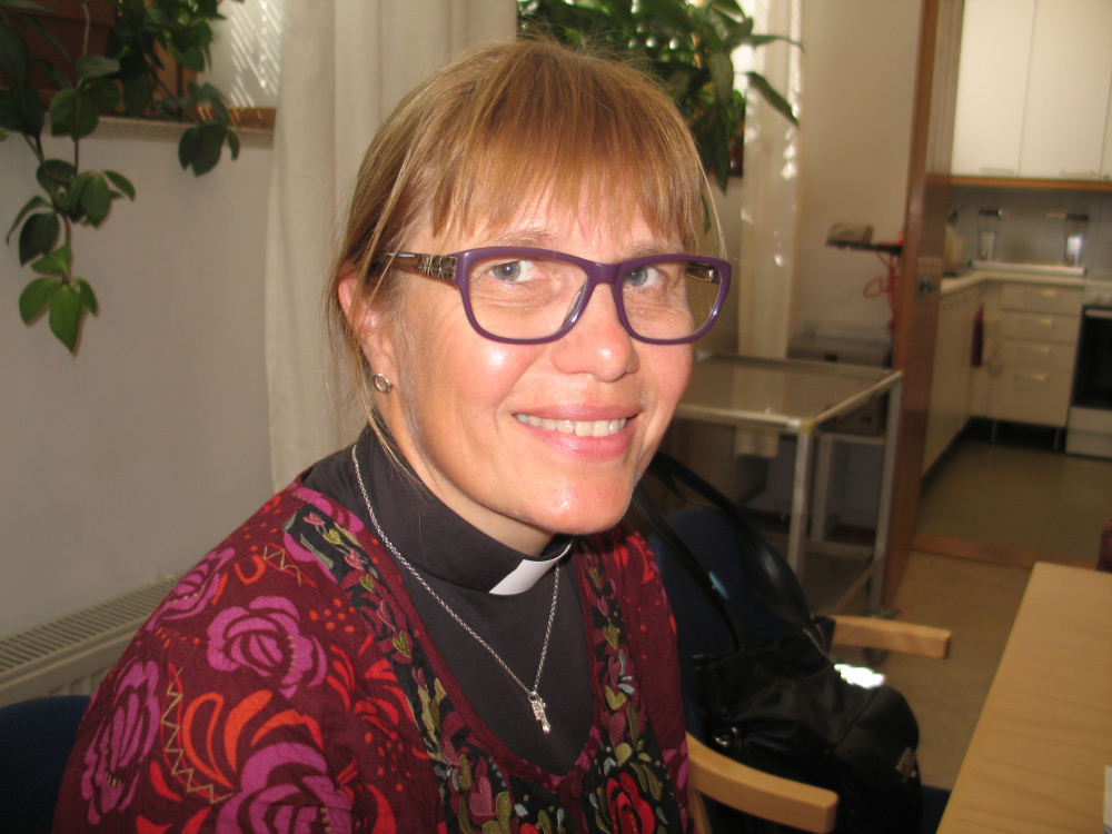 Szwedzkojęzyczna pastor Maria pełniąca posługę w kościele św. Jakuba. Zdj. Tomasz Otocki
