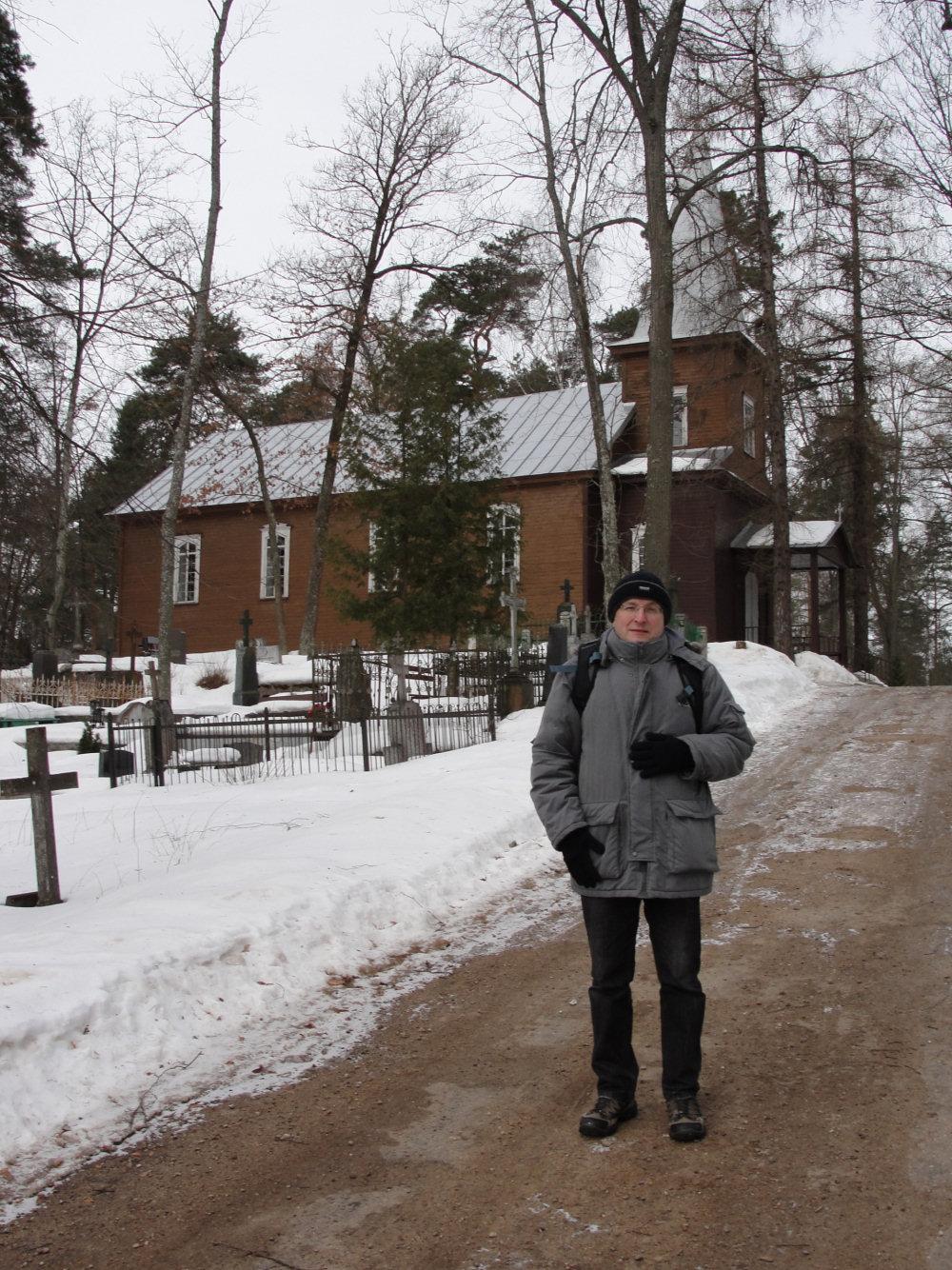 Autor na cmentarzu Katolickim w Dyneburgu
