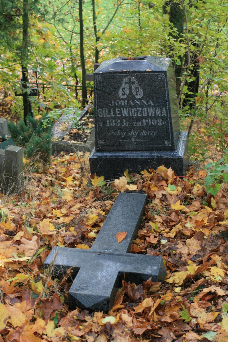 Nagrobek Johanny Billewiczówny na starym cmentarzu w Szawlach