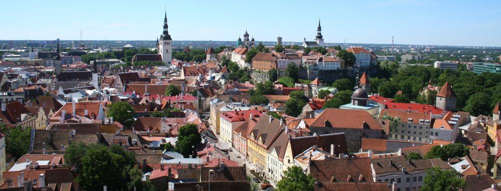 Panorama Tallinna. Zdj. Kazimierz Popławski