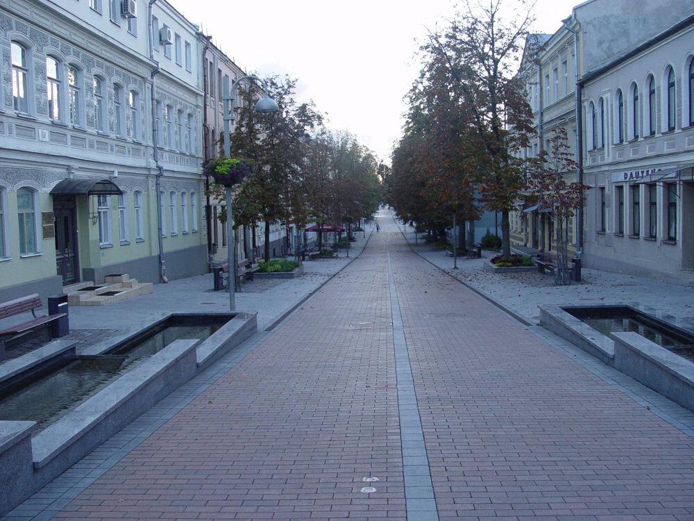 Ulica Ryska w Dyneburgu. Jedna z głównych ulic miasta. Zdj. Bartosz Chmielewski