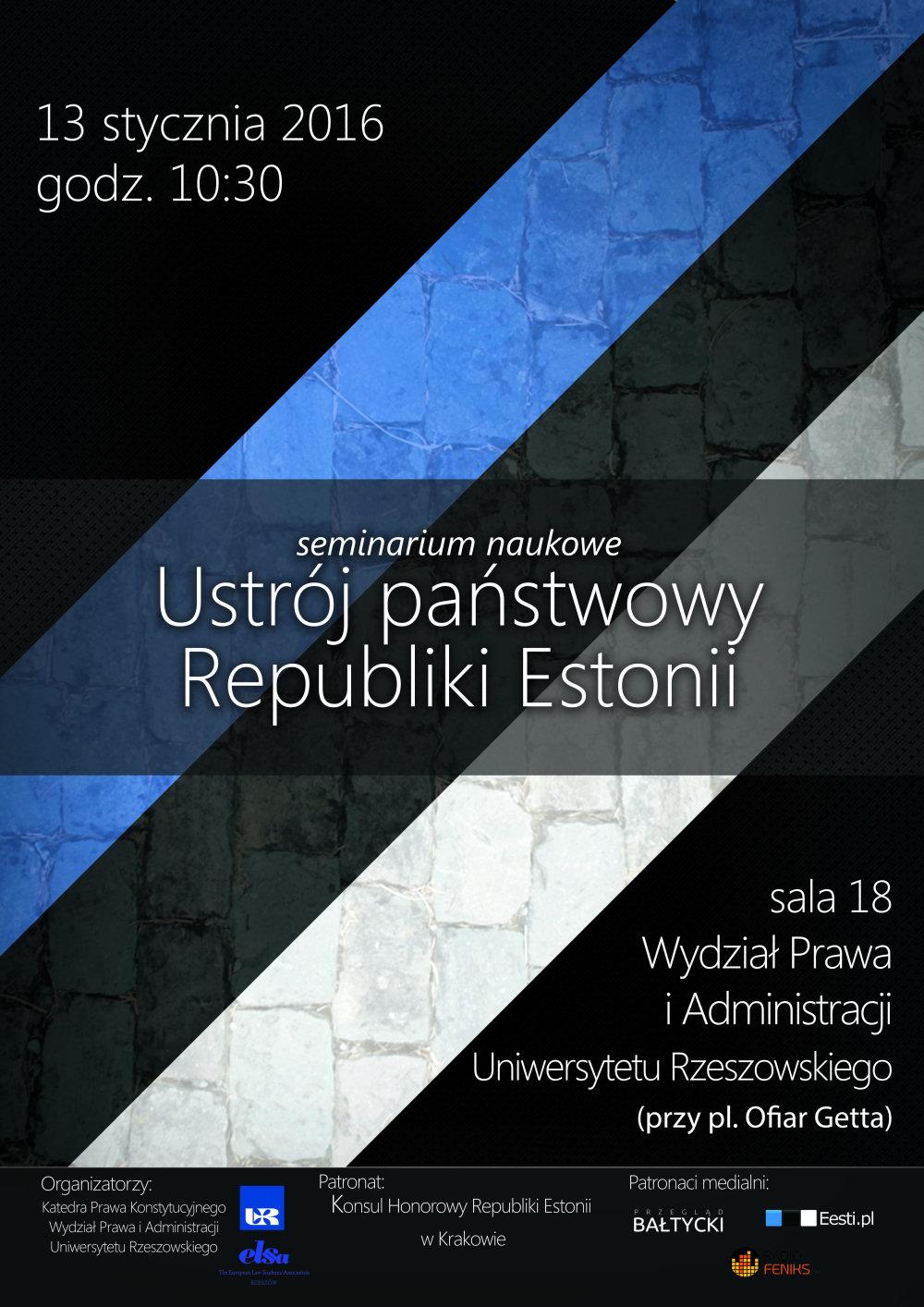 Seminarium naukowe: ustrój państwowy Republiki Estonii