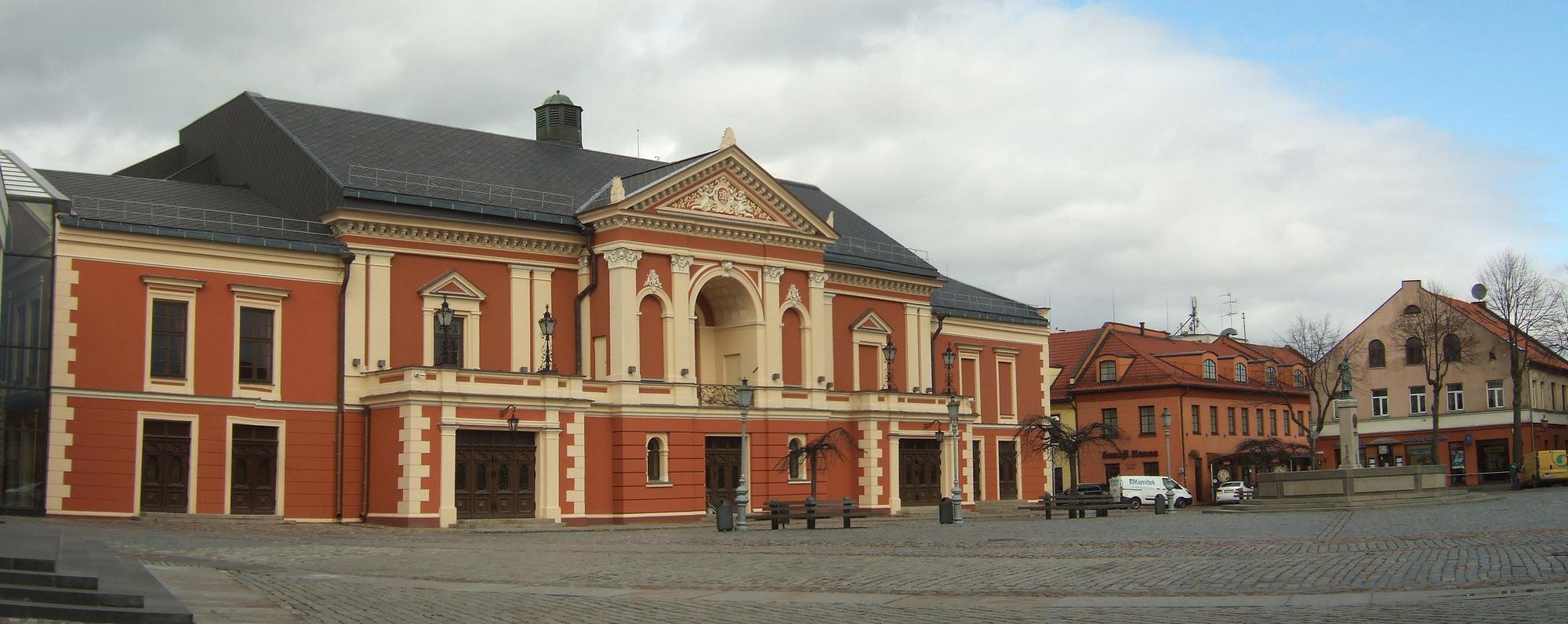 Teatr Dramatyczny na kłajpedzkiej starówce. Zdj. Wikimedia Commons