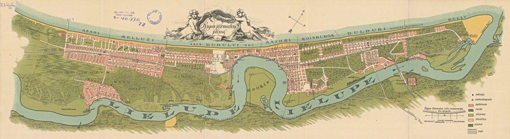 Mapa Jurmały w 1923 roku. Mapa: Mapster