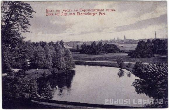 Torņakalns, widok na Rygę. Zdj. Zudusi Latvija