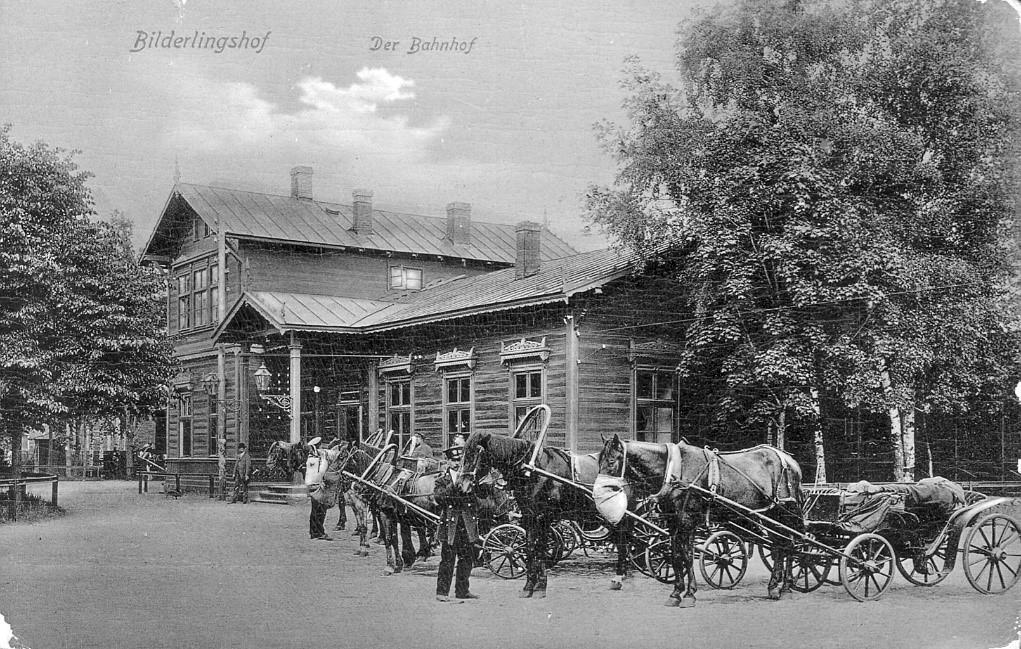 Kartka pocztowa z Bilderlingshofu. Zdj. Muzeum Kolejnictwa Łotewskiego