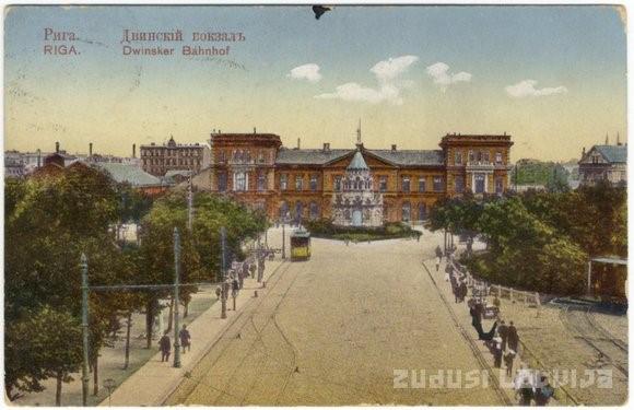 Ryga, Dworzec Dyneburski. Zdj. Zudusi Latvija