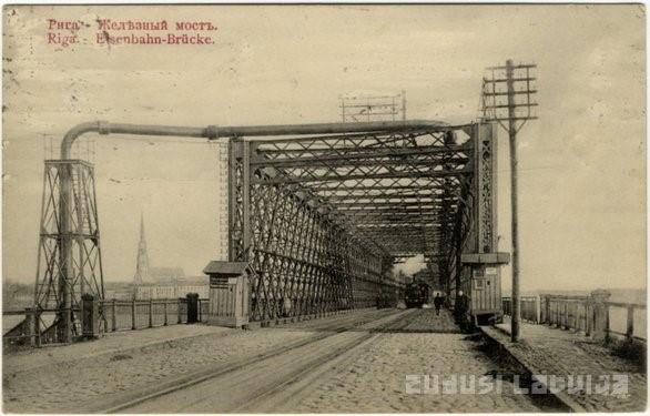 Most kolejowy w Rydze. Zdj. Zudusi Latvija