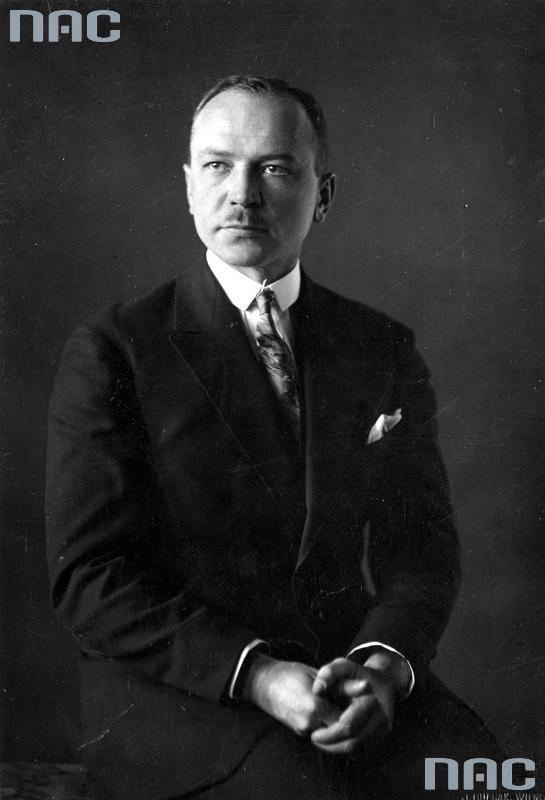 Kpt. rezerwy Roman Pikiel jeden z założycieli Wileńskiej Radiostacji. Zdj. Narodowe Archiwum Cyfrowe