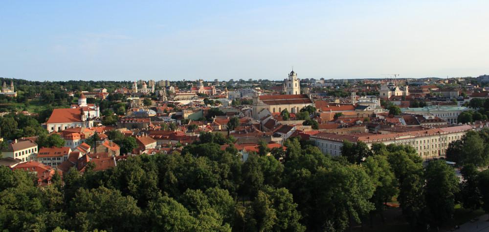Panorama wileńskiego Starego Miasta. Zdj. Kazimierz Popławski