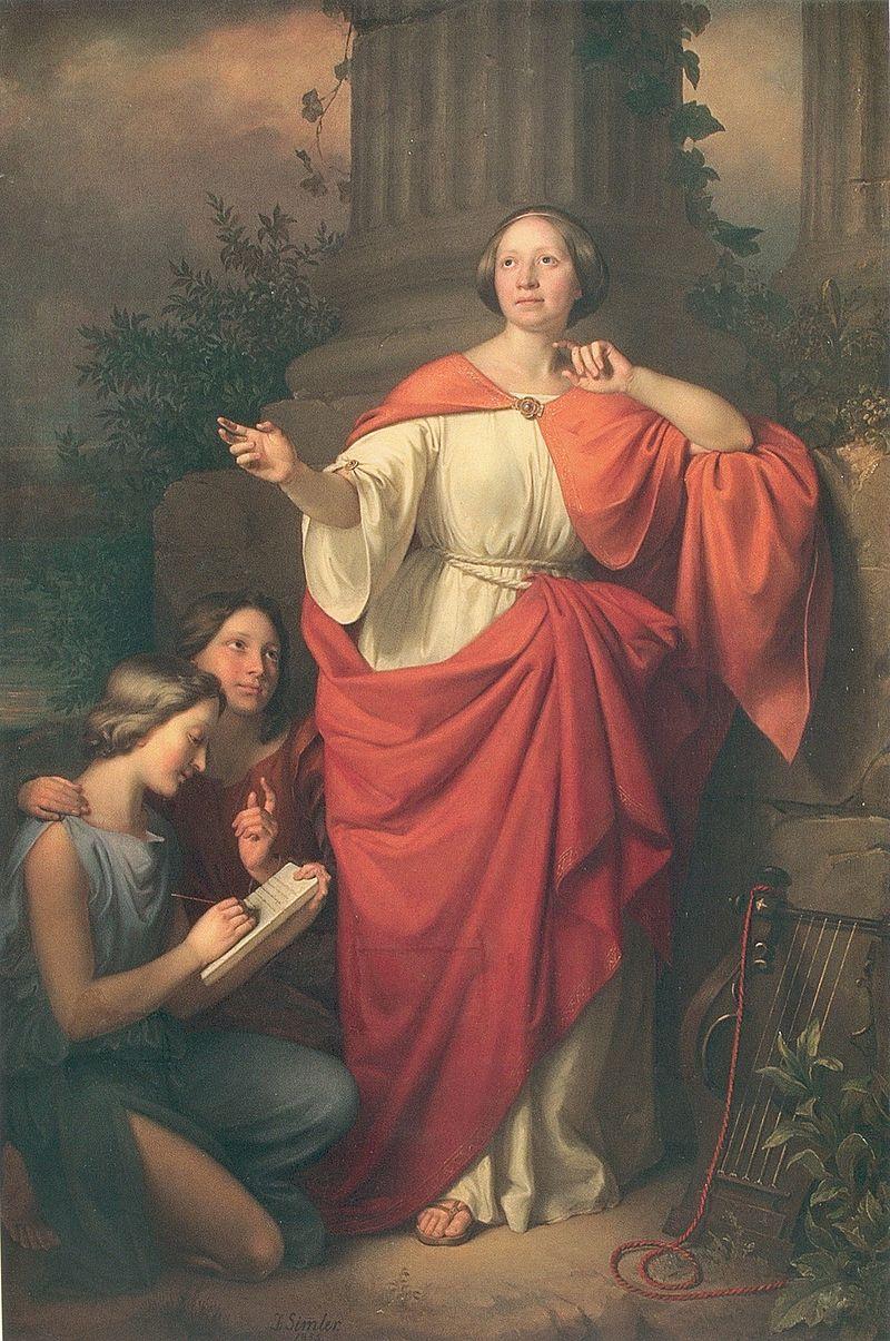 Jadwiga Łuszczewska, Deotyma. Portret autorstwa Józefa Simmlera
