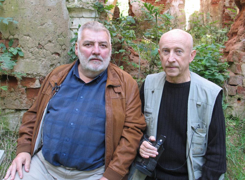 Tadeusz Bystram z Alfredasem Bumblauskasem w Mitrunach