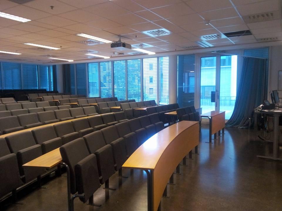 Aula w Kolegium Nauk Stosowanych w Oslo i Akershus (Høgskolen i Oslo og Akershus). Zdj. Lidia Pokrzycka