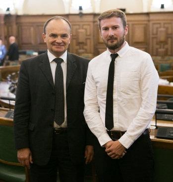 Benedikts Ivanovs (po prawej). Zdj. Ernests Dinka, Saeimas Administrācija