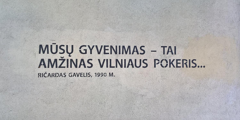 Cytat Z Ričardasa Gavelisa Na Budynku Przy Ul Basanavičiaus